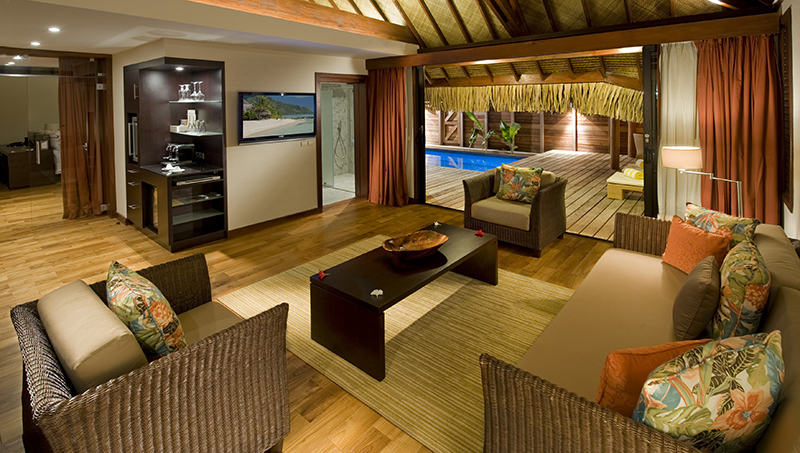 Sparkling voyages hilton moorea lagoon resort spa for Garden pool bungalow intercontinental moorea